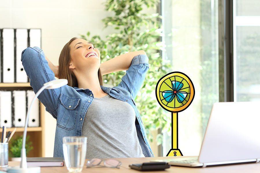 Qualité de l air au bureau respirez